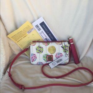 Dooney and Bourke Swirl Lollipops Clutch Wallet